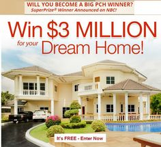 Search Results Win 3 Million Dollars For Your Dream Home Pch Sweepstakes . Instant Win Sweepstakes, Online Sweepstakes, Money Sweepstakes, Wedding Sweepstakes, Win Online, Pch Dream Home, Dream Homes, 3 Million Dollars, Lotto Winning Numbers