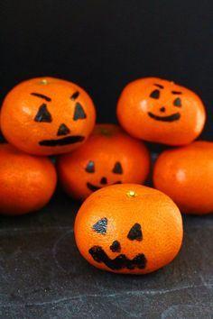 clementine pumpkins fun halloween snack for kids - Healthy Fun Halloween Snacks
