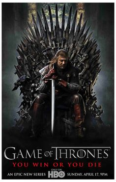 A great Game of Thrones poster featuring Ned Stark (Sean Bean) from Season 1! You win or you die... Ships fast. 11x17 inches. Winter is coming so check out the rest of our fantastic selection of Game