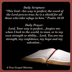 Daily Prayer: Lord, Your way is perfect... forgive me when I look to the world, to man, or to my own strength or ability... Lord, You are my strength, my confidence, my hope and my salvation... #strength #confidence #salvation #scripturequote #biblequote #instabible #instaquote #quote #seekgod #godsword #godislove #gospel #jesus #jesussaves #teamjesus #LHBK #youthministry #preach #testify #pray #rollin4Christ #atruegospelministry