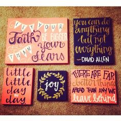 Painted canvas - love the You can do anything but not everything quote - Quotes Galore
