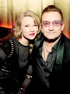 Taylor & Bono at the Golden Globes after party