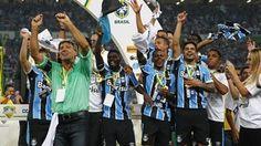 Grêmio título festa Copa do Brasil Renato (Foto: Lucas Uebel/Grêmio/Divulgação)