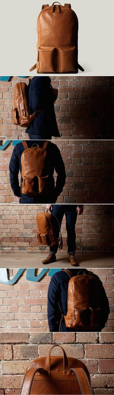 a9c81409b4  hardgraft Old School Laptop Rucksack Hard Graft