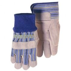 Kid's Gardening Gloves. REAL work gloves with leather palms. Fit most children, ages 4 to 9. $6.95