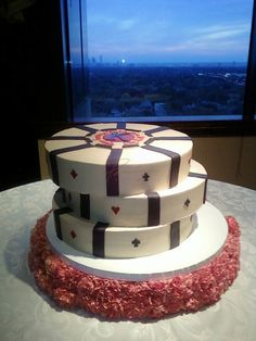 Poker Chips: would be an awesome groom's cake.  Rich would love this  Seems a little cheesy  https://apps.facebook.com/cartel-poker/?pinterest