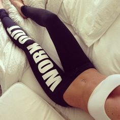 Image of WORK OUT leggings in black