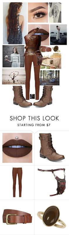"""Element Earth Transformation"" by frootloop16 ❤ liked on Polyvore featuring NYX, American Rag Cie, rag & bone, Holster, Will Leather Goods and Dorothy Perkins"