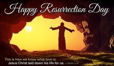 Happy Resurrection Day Easter Holidays eCards - Free Christian Ecards Online Greeting Cards