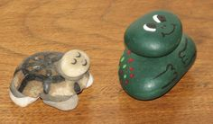 painted rocks, antiques circa 1967