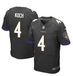 NFL Baltimore Ravens #4 Sam Koch black Road Elite Jersey
