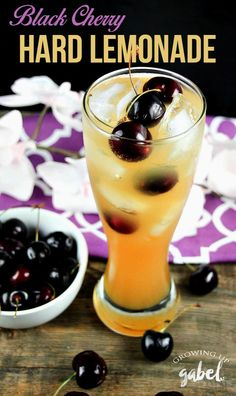 Homemade hard lemonade made with vodka is spruced up with black cherry Wicked Ale for a truly delicious summer cocktail! Lemonade…