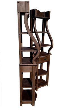 Set of Italian style, distressed shelves. Rustic shelf, cabinet. New wood, hand…