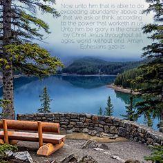 Ephesians 3:20-21  KJV scripture verses King James Bible memory verse Valerie McDaris