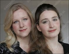 Charlotte Stoppelenburg (alt-mezzo soprano) (1979) and Josefien Stoppelenburg (soprano) (1981) were born in a family of professional musicians. They began their career in in a regional children's choir, followed by singing in the National Children's Choir and the National Youth Choir. They often performed solo in these choirs. See Charlotte and Josefien Stoppelenburg.