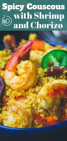 The Rise Of Private Label Brands In The Retail Meals Current Market Hands-Down The Best Couscous Recipe You'll Try You'll Love All The Fun Flavors In This One-Pot Couscous W Shrimp And Chorizo. 20 Mins Only Video Included. Couscous Recipes, Salad Recipes, Mediterranean Diet Recipes, Mediterranean Dishes, Side Dish Recipes, Dinner Recipes, Dinner Ideas, Cooking Recipes, Kitchens