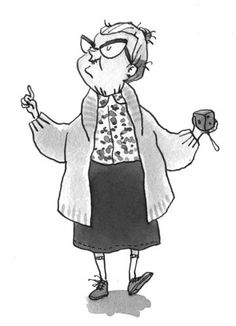 Eglantine Ceulemans Illustration - eglantine ceulemans, eglantine, ceulemans, pen, ink, watercolour, painting, painted, fiction, educational, commercial, fiction, old lady, grandmother, grandma, grannie, fiction, black line, black and white