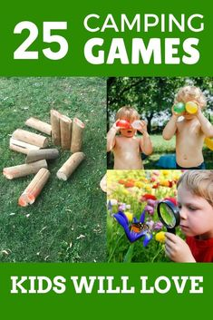 These are the best camping games for kids! Fun outdoor games kids love for your next family camping trip! Includes nature activities, night camping games, and family games that are fun for kids and adults. Plus camping games for tweens and teens. Choose your favorite kids' camping games before your next family campout! #campinggames #outdoorgames #kidsgames #familygames Outdoor Summer Activities, Outdoor Games For Kids, Nature Activities, Rainy Day Activities, Camping Activities, Craft Activities For Kids, Family Camping Games, Family Games, Tween Games
