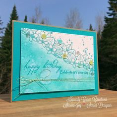 https://flic.kr/p/GaLyYC | Pretty & Blue Birthday Card | A blue-toned birthday card I made with Grace's Little Notes stamp set and Kindness Medley sequin mix, both from Kennedy Grace Creations. The Happy Birthday sentiment is from an Altenew stamp set (Birthday Greetings). #kennedygracecreations Sheena Joy 2016 - Joy's Studio