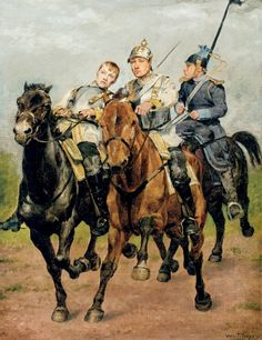 """The Three Princes"" Prussian cavalrymen. Franco-Prussian War"