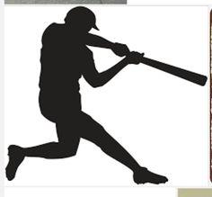 free clip art people sports silhouette baseball player rh pinterest com baseball batter clipart