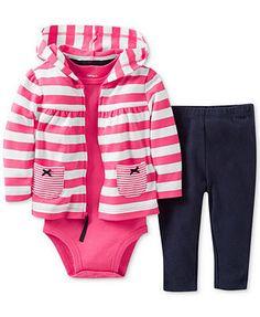 Carter's Baby Girls' 3-Piece Jacket, Bodysuit & Pants Set
