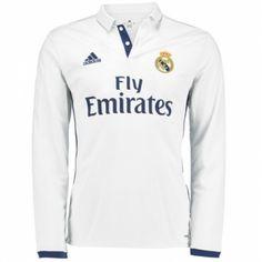 Camiseta Nueva del Real Madrid Home 2017 Manga Larga Ronaldo Jersey ad7045a609ad3