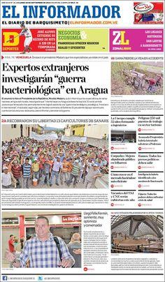 @ElInformadorVE #Portadas #PrimeraPagina #Titulares #Noticias #DesayunoInformativo