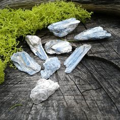 Natural Blue Kyanite Crystals~   This crystal is 25mms to 40mms in size   8 Kyanite Crystals total    These pieces are perfect size for Jewelry Making, Wire Wrapping ,Terrariums, Meditation or enjoying their beauty just the way they are. Beautiful blue color...  Link to our Etsy Shop is on our Pinterest Page