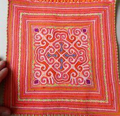 Vintage Hmong fabric Handmade Fabrics, handmade tapestry textiles, hill tribal…