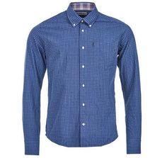 Barbour Country Gingham Indigo Button Down Shirt