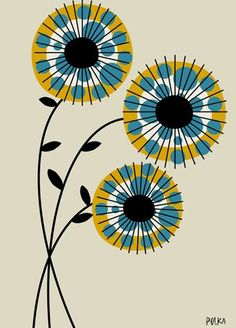 DOT flowers kind of retro