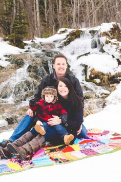 Winter Family Photo #waterfall #winter #family Photo By Brz Photography