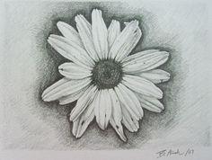 White Daisy Flower Tattoo Design