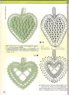 Ivelise Feito à Mão: Corações Em Crochê!