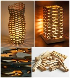 Clothespins Got Repurposed into These Wonderful Lampshades