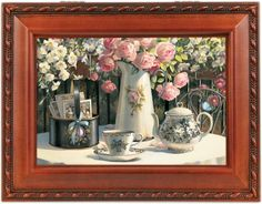 Cottage Garden Tea Time Woodgrain Music Box / Jewelry Box Plays Thats What Friends Are For * More details @…