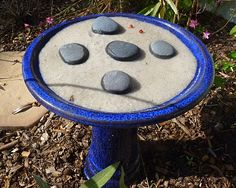 Working for the Weekend: Butterfly Puddling Spot....use and old birdbath or any shallow dish to create your own butterfly puddling spot...add stone or other decorative elements to give them a place to perch and drink!