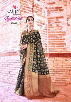 804f065f746 Rajtex Krystal Silk Series Designer Traditional Festive Fashion Party Wear  Handloom Weaving Silk Fabric Occasionally Saree Single pieces wholesale  Supplier ...