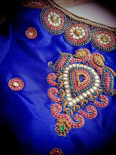 South Indian Blouse Designs, Best Blouse Designs, Simple Blouse Designs, Bridal Blouse Designs, Hand Work Design, Hand Work Blouse Design, Stone Work Blouse, Maggam Work Designs, Back Neck Designs
