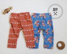 DIY: Baby Leggings in Spoonflower knit by Mariah Palmer | Everything Golden