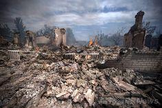 ウクライナ軍による空爆で破壊されたスタニツァ・ルガンスカヤ(Stanitsa Luganskaya)村の住宅(2014年7月2日撮影)。(c)AFP/ITAR-TASS/STANISLAV KRASILNIKOV ▼6Jul2014AFP|ウクライナ軍、親ロシア派拠点のスリャビャンスクを奪還 http://www.afpbb.com/articles/-/3019784