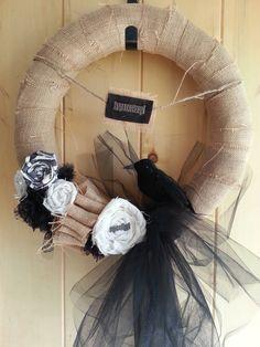 Pinterest Inspired Halloween Wreath