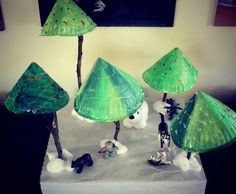 paper plate trees