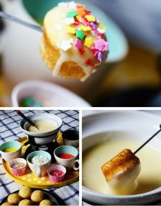 Cupcake Fondue - Sweet Spring Treat and a great party dessert idea.