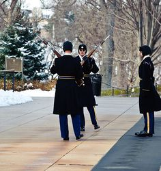 Changing of The Guard at Tomb of The Unknown Soldier Arlington National Cemetery