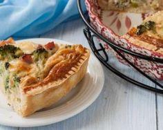 Quiche légère au brocoli et au jambon au Thermomix® : http://www.fourchette-et-bikini.fr/recettes/recettes-minceur/quiche-legere-au-brocoli-et-au-jambon-au-thermomixr.html