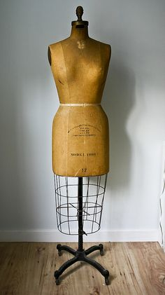 vintage dress form . . .just needs lace and jewelry