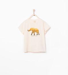 Imagem 1 de T-SHIRT ESTAMPADA COM ANIMAIS E BRILHOS da Zara