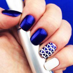 "Nail Stencils design ""Love Triangle"" by Unail $5 #nails #nailart #naildesign #easynail #nailstencil #nailpattern"